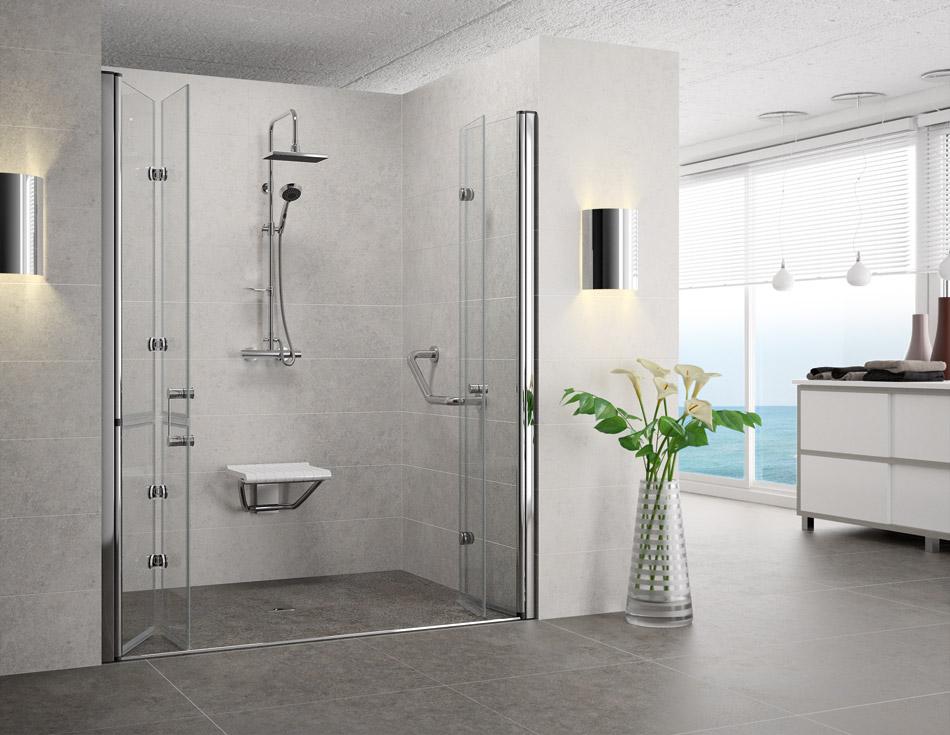 Mampara de ducha plegable trendy mampara de ducha - Mamparas de ducha puertas abatibles ...